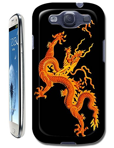 The Hallowmas Gift With Beautiful Fire Flowers Horses Dragon Nice Fashion Cell Phone Cases Design Special For Samsung Galaxy S3 I9300 No.13