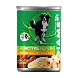 IAMS Proactive Health Dog Food, Ground Savory Dinner with Chicken & Rice, 13.2-Ounce Cans (Pack of 12)