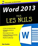 Livre Informatique et Internet : Word 2013 pour les nuls