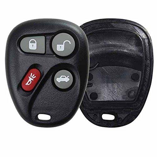 KeylessOption Just the Case Keyless Entry Remote Key Fob Shell - Black (2000 Chevy Malibu Key compare prices)