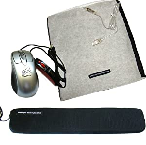 3-piece Set: ValueRays® USB Warm Mouse & USB Warm Keyboard Pad & USB Mouse Hand Warmer® - 3 Pieces - Heated Computer Mouse, Heated Mouse, Heated Mouse Hand Warmer, Heated Keyboard Pad, Heated Keyboard, Mouse Warmer, Hand Warmers, ValueRays