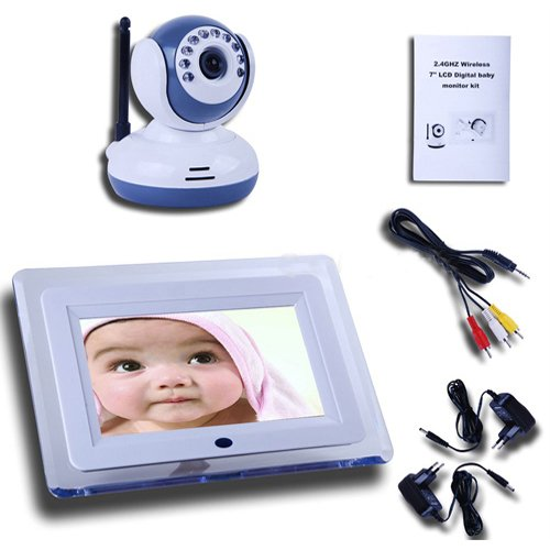 Wireless Ir Night Vision Digital Baby Monitor Video 2-way Talk Camera 7 Inch