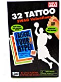 32 Swag Sports Valentine Classroom Sharing Cards with Tattoos Basketball Football Skateboarding
