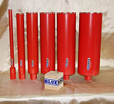 "1""-6"" Core Bit Set- Diamond WET Coring Bit - Concrete Core Drill by BLUEROCK ® Tools"