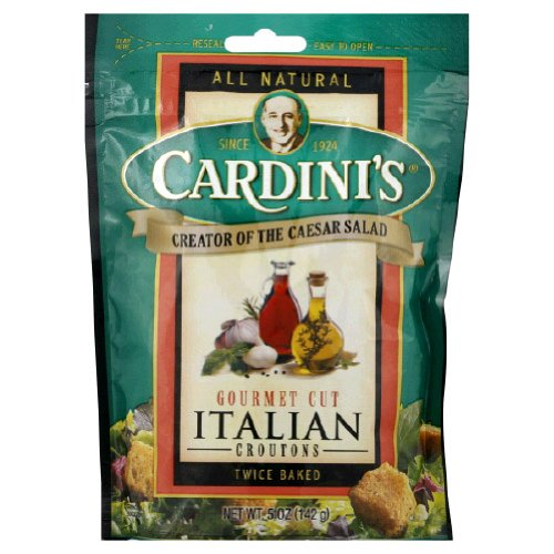 Cardini Gourmet Croutons, Italian, 5-Ounce Packages (Pack of 12)