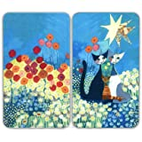 Wenko 2521411500 30 x 4.5 x 52 cm Cover Plate Universal Rosina Wachtmeister Glass, Set of 2