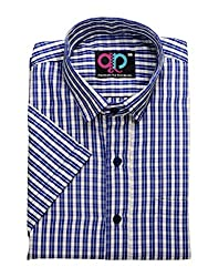 Formals by Koolpals-Rich Cotton Blend-Beige and Blue Checks