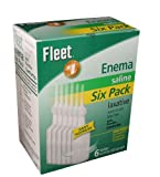 Fleet Enema Saline Ready to Use - 4.5 oz (6 Pack)