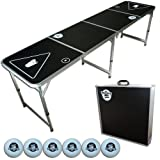 GoPong 8-Foot Portable Folding Beer Pong / Flip Cup Table (6 balls included) ~ GoPong