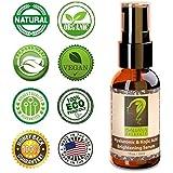 HYKO! Hyaluronic & Kojic Acid Skin Brightening Serum - Anti Wrinkle, Anti Blemish, Dark Spot Corrector - Natural/Organic, No Hydroquinone, No Parabens - 1oz - Made in USA, Satisfaction 100% Guaranteed