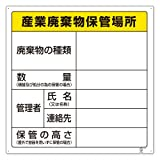 ユニット 産業廃棄物保管場所標識 600×600mm 822-91