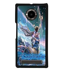PRINTVISA Zodiac Sagittarius Case Cover for YU Yuphoria::Micromax Yuphoria YU5010