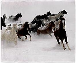 CafePress Running Horses Throw Blanket - Standard Multi-color