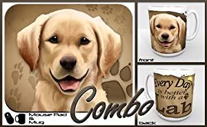 "Yellow Lab ""for Dog Lovers Only"" Mouse Pad and Mug Combo Set"