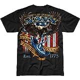 Battlespace Men's T Shirt USN 'Fighting Eagle'