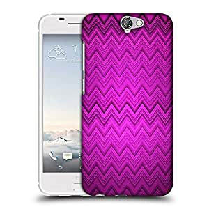 Snoogg purple wave pattern 2426 Designer Protective Back Case Cover For HTC one A9