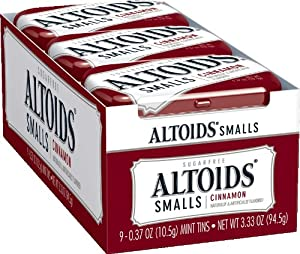 Altoids Smalls Sugar Free Cinnamon Mints, 0.37-Ounce Tins (Pack of 9)
