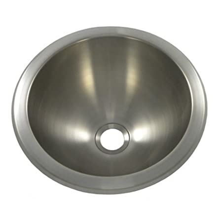 "12"" x 12"" Round Bar Sink, Undermount, Finish: Brushed Stainless Steel"