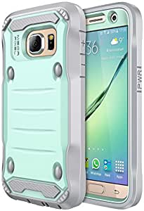 S7 Case Galaxy S7 Case SGM Premium Hybrid High Impact *Shock Absorbent* Defender Case With Anti-Slip Grip For Galaxy S7 With Built-In Screen Protector Mint Gray Mint + Gray