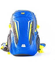 FBI Bagme 30 Ltr Capacity Nylon Blue Yellow Hiking Backpack With Removable Ventilation Back Frame System To Relieve...