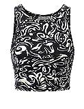 Doublju Women Sleeveless Half Turtleneck Tight T-Shirts