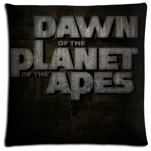 Friendly Zippered Polyester Cotton Floor Pillow Protector Case Rise of the Planet of the Apes Generously 18x18 inch 45x45 cm