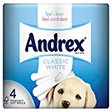 Andrex Classic White Toilet Tissue 4 Rolls (Pack of 10 x 4roll)