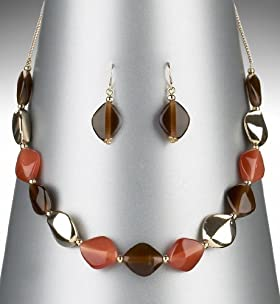 Gold Plated Assorted Bead Necklace