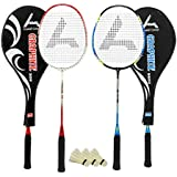 Guru Graphite BR04 COMBO-01 Badminton Racket Set Pack Of Two With Two Cover & 3 Shuttlecock Size: 27 Inch