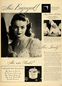 1945 Ad Ponds Extract Cold Cream Cleansing Mary Florence McKenna J. C. Mullen - Original Print Ad