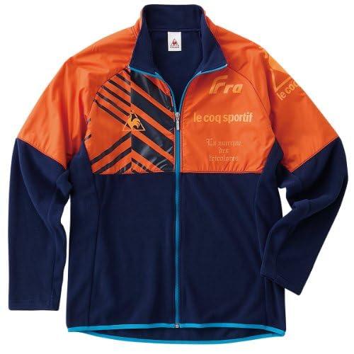 (ルコックスポルティフ)le coq sportif フリース長袖ジャケット QS560133 RNV レッドオレンジ×ネイビー M
