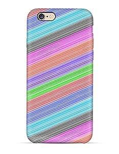 Multi colored diagonal pattern iPhone 6 case