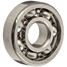 Dynaroll Precision Miniature Ball Bearing, ABEC-5, Open, Stainless Steel