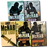 Andy McNab Nick Stone Thriller Collection Andy McNab 5 Books Set (Aggressor, Liberation Day, Last Light, Firewall, Deep Black) (Nick Stone Thriller Collection)