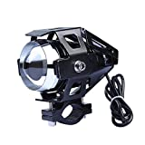 Gadget Zone Black Motorcycle 125W CREE U5 LED Driving Fog Head Spot Light White Lamp Headlight for Harley Suzuki Honda