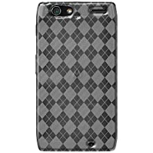 Amzer AMZ92663 Luxe Argyle High Gloss TPU Soft Gel Skin Case for Motorola RAZR XT910 (Clear)