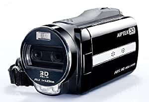 "Aiptek iH3 Full HD 3D Camcorder (8,1cm (3,2"") 3D Display, SD / SDHC, 5 Megapixel) schwarz"