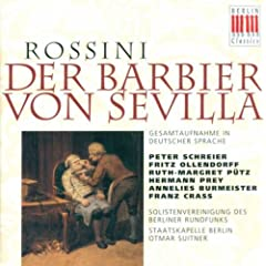 Rossini, G.: Barbiere Di Siviglia (Il) (The Barber Of Seville) (Sung In German) [Opera] (Suitner)