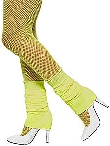 Smiffy's Unisex-Adult Leg Warmers, Yellow, One Size