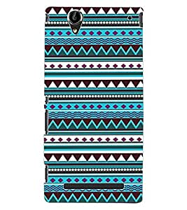 ColourCraft Tribal Pattern Design Back Case Cover for SONY XPERIA T2 ULTRA