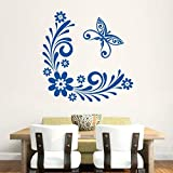 Hoopoe Decor Flowers And Butterfly Wall Stickers And Decals