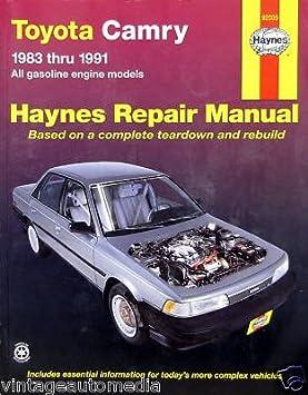 1983-1991 Haynes Repair Manual - Toyota Camry - #92005