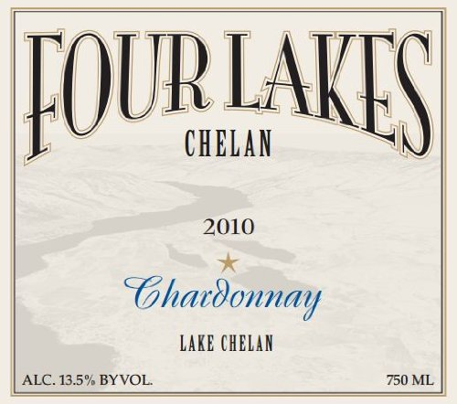 2010 Four Lakes Chelan Winery Estate Chardonnay 750 Ml