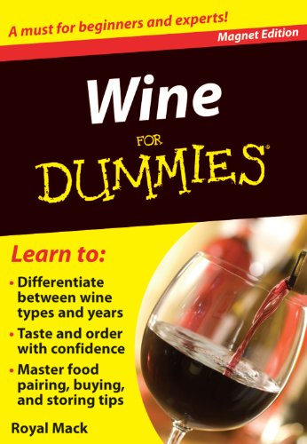 Wine for Dummies: A Must for Beginners and Experts! (Refrigerator Magnet Books for Dummies)