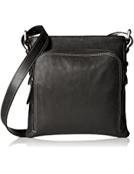 Viari Leather Black Messenger Bag (VE2055)