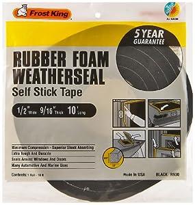 Frost King R930H Sponge Rubber Foam Tape 9/16-Inch, Black