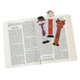"""24 CHRISTMAS Character BOOKMARKS/Santa/SNOWMAN/Reindeer/PARTY FAVORS/HOLIDAY Stocking Stuffers/2 dozen/5.25"""""""