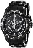 Invicta Mens 6986 Pro Diver Collection Chronograph Black Dial Black Polyurethane Watch