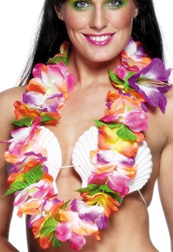 Smiffy's Women's Hawaiian Lei with Large Bright Flowers, Multi, One Size - 1