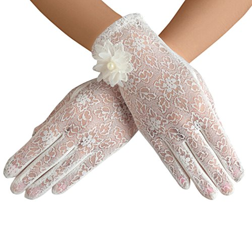 Bridal Gloves Lace Wedding Party Evening Short Gloves
